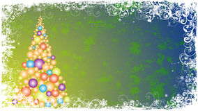 Abstract christmas frame Royalty Free Stock Photos