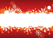 Abstract Christmas frame with snowflakes Royalty Free Stock Photography