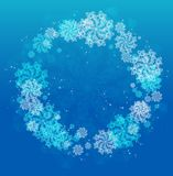 Abstract Christmas frame with snowflakes. Royalty Free Stock Photography