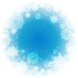 Abstract Christmas frame with snowflakes. Royalty Free Stock Photos