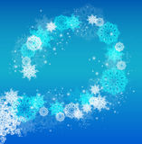 Abstract Christmas frame with snowflakes. Stock Image