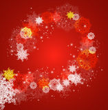 Abstract Christmas frame with snowflakes. Royalty Free Stock Image