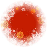 Abstract Christmas frame with snowflakes. Royalty Free Stock Images