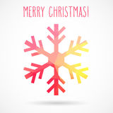 Abstract Christmas geometric snowflake Stock Images