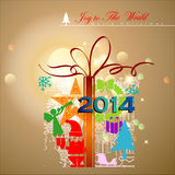 Abstract Christmas Gift. Vector Illustration, EPS 10 Stock Image