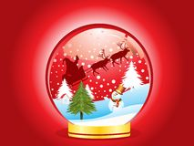 Abstract christmas globe  with ice man Royalty Free Stock Image