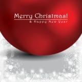 Abstract Christmas globes postcard - giftcards Stock Image