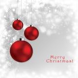 Abstract Christmas globes postcard Stock Photos