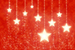 Abstract christmas with gold stars Royalty Free Stock Image
