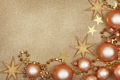 Abstract christmas golden background Stock Photography