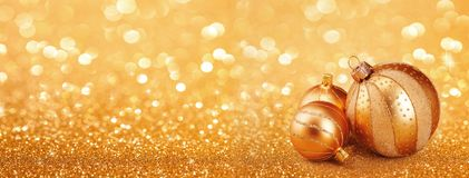 Abstract christmas golden background. With ornaments royalty free stock image