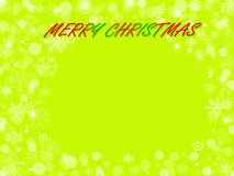 Abstract christmas green background. Abstract christmas with snowflake and star green background Stock Image