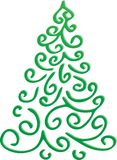Abstract christmas green tree. On a white background Stock Photo