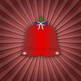 Abstract christmas greeting card or postcard with red  bell Stock Images