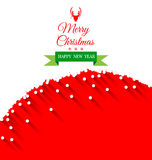Abstract Christmas Greeting Card vector. Background royalty free illustration