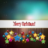 Abstract Christmas greeting with decorations Royalty Free Stock Photography
