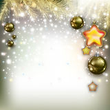 Abstract Christmas greeting with decorations Stock Image