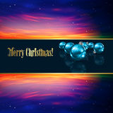 Abstract Christmas greeting with decorations and s Royalty Free Stock Photo