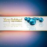Abstract Christmas greeting with decorations and s Royalty Free Stock Image
