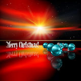 Abstract Christmas greeting with decorations and s Royalty Free Stock Photography