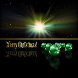 Abstract Christmas greeting with decorations and s Royalty Free Stock Images