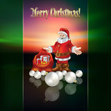 Abstract Christmas greeting with Santa Claus Stock Photos