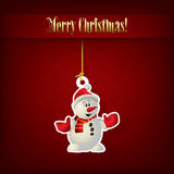 Abstract Christmas greeting with snowman Royalty Free Stock Photography
