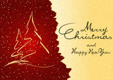 Abstract Christmas Greeting Stock Images