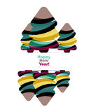 Abstract Christmas and happy new year  banner design with blank space. Vector illustration Royalty Free Stock Photos