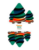 Abstract Christmas and happy new year  banner design with blank space.. Vector illustration Stock Photo