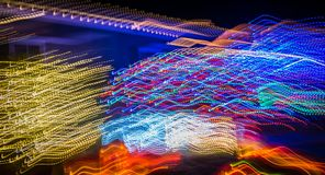 Abstract Christmas holiday lights. In holiday night stock photo
