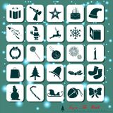 25 Abstract Christmas Icons. Merry Christmas. Vector and Illustration, EPS 10 Stock Photo