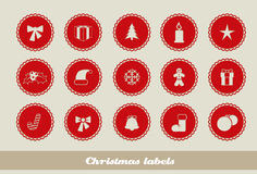 Abstract Christmas labels Royalty Free Stock Photography