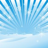 Abstract Christmas landscape Stock Image