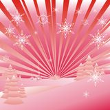 Abstract Christmas landscape Royalty Free Stock Photo