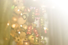 Abstract Christmas light background. Abstract art bokeh light background Stock Image