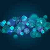 Abstract Christmas  light background with bokeh Royalty Free Stock Images