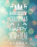 Abstract Christmas  light background with retro Royalty Free Stock Photography
