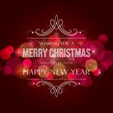 Abstract Christmas  light background Royalty Free Stock Images