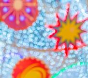 Abstract Christmas light bokeh blur background.  Stock Photography