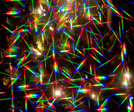 Abstract Christmas lights Stock Photo