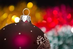Abstract christmas lights as background Stock Images