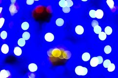 Abstract christmas lights as background Royalty Free Stock Photography