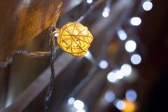 Abstract Christmas lights background, bokeh. Celebration Stock Photo
