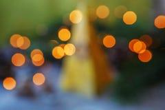 Abstract Christmas lights. Background. Stock Image