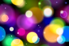 Abstract Christmas Lights background Stock Photo