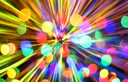 Abstract christmas lights explosion Royalty Free Stock Photos
