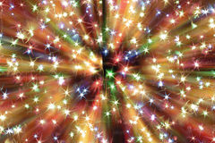 Abstract christmas lights explosion Royalty Free Stock Photo
