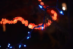 Abstract Christmas Lights Holiday lights Royalty Free Stock Image