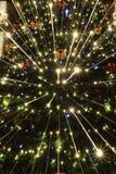 abstract christmas lights tree Στοκ Εικόνες